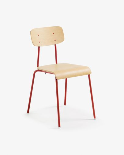 Klun chair, natural and red