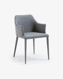Croft armchair grey and legs in tissue