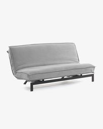 Eveline sofa bed 195 cm grey metal structure