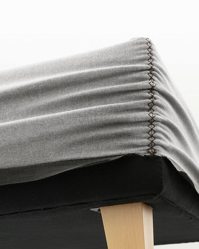 Bed base high Nikos 150 x 190 cm grey