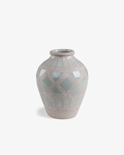 Ares vase light blue and beige