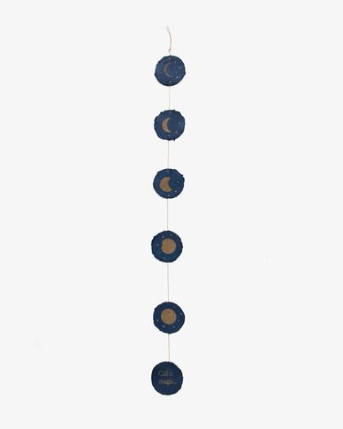 Astrea blue background lunar phase garland