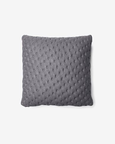 Kam cushion cover quilted 45 x 45 cm grey