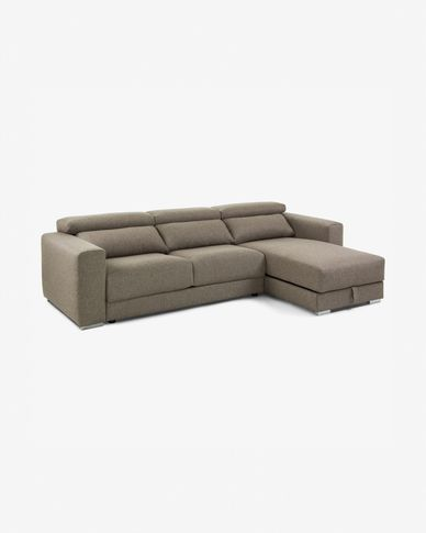 Canapé Atlanta chaise longue marron