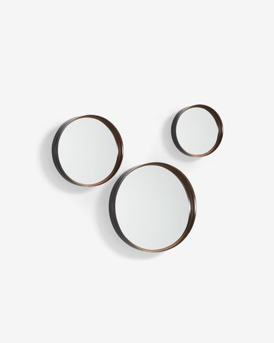 Ralphe set of 3 mirrors Ø 9,5 cm / Ø 9 cm / Ø 7,5 cm