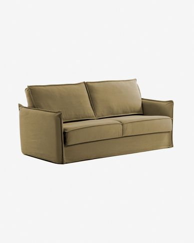Samsa sofa bed 160 cm polyurethane brown