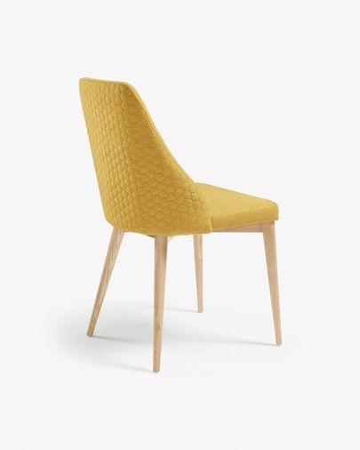 Chaise Rosie moutarde finition naturelle