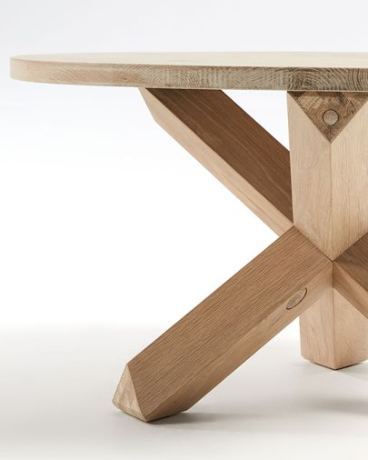 Wooden Lotus coffe table Ø 65 cm