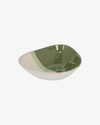 White and green Naara irregular bowl