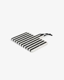 Bergman rectangular chopping board black and white marble