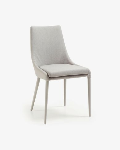 Davi chair grey synthetic leather