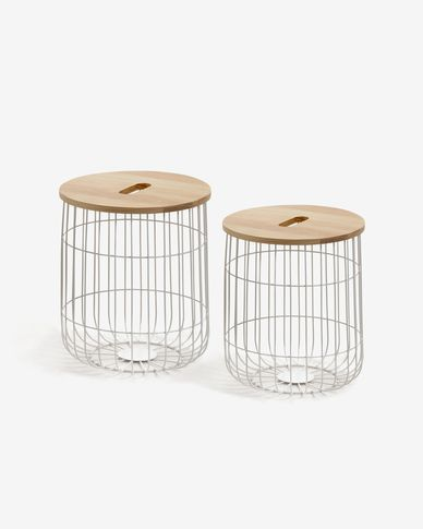 Maelle side tables Ø 42/38 cm