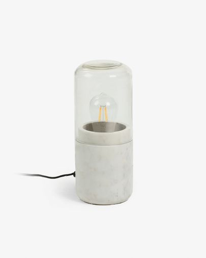 Cleo table lamp white marble
