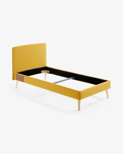 Mustard-yellow Dyla bed cover 90 x 190 cm