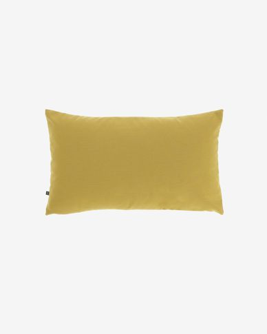 Mustard-yellow Nedra cushion cover 30 x 50 cm