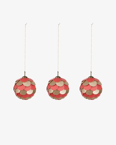 Felicita red bauble set