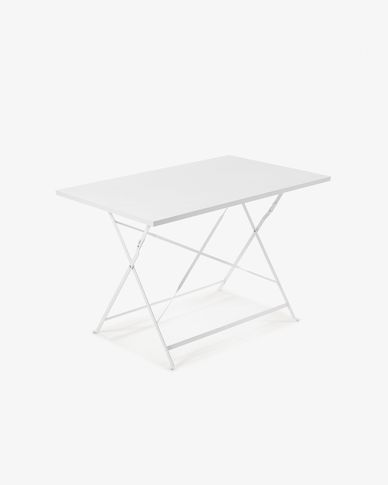 Rectangular white Alrick table 110 x 70 cm