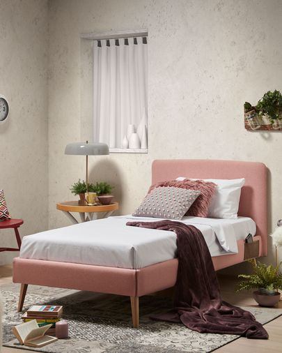 Dyla bed 90 x 190 cm pink