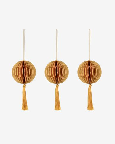 Clorinda orange bauble set