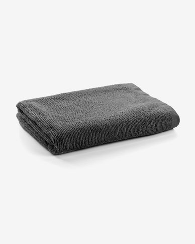 Miekki large bath towel dark grey