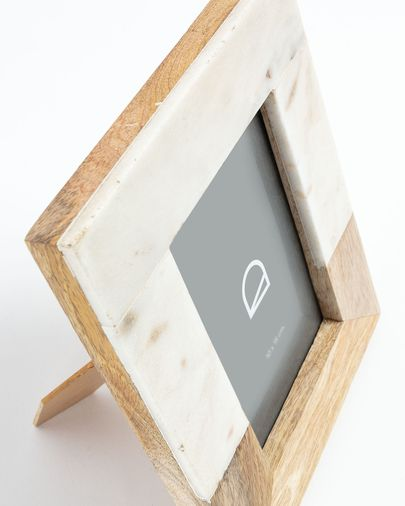 Photo frame Estel 16 x 21 wood and white marble