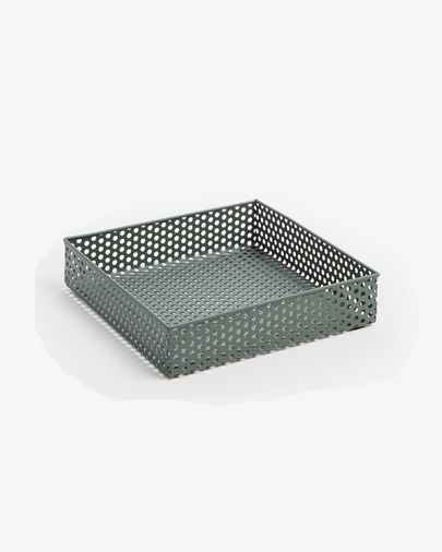 Metal tray Emorie 21 x 21 cm green