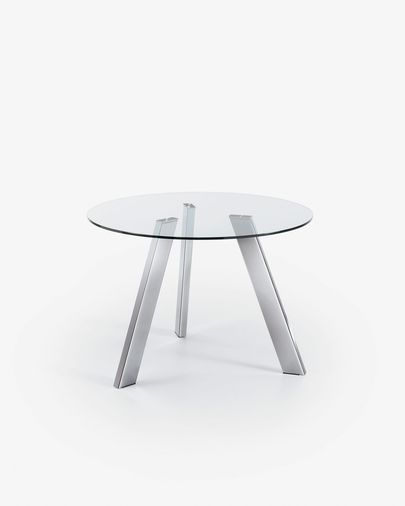 Carib table neutral and silver Ø 110 cm
