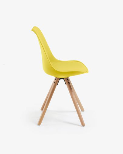 Ralf chair yellow and natural