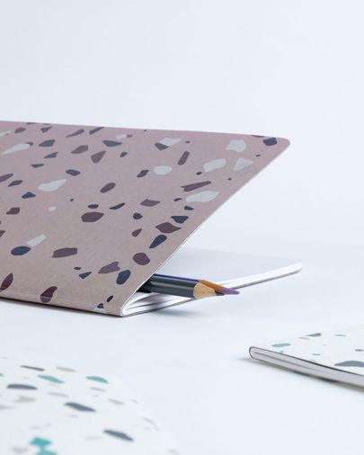 Notebook Naiara DIN A5 60 pages lila terrazzo