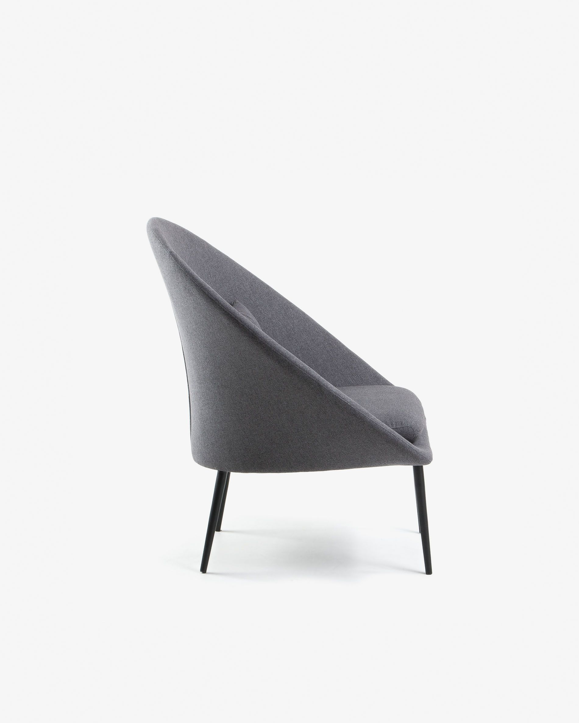 Awesome Dark Grey Norsdam Armchair Kave Home Dailytribune Chair Design For Home Dailytribuneorg