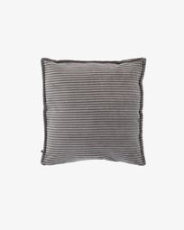 Grey corduroy Wilma cushion cover 45 x 45 cm