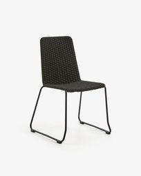 Brianne chair dark grey