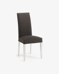 Graphite and white Freda chair