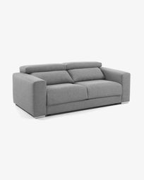 Light grey 3-seater Atlanta sofa 210 cm