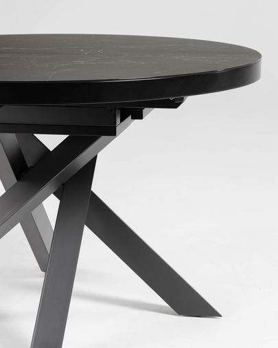 Vashti extendable table Ø 120 (160) cm porcelain