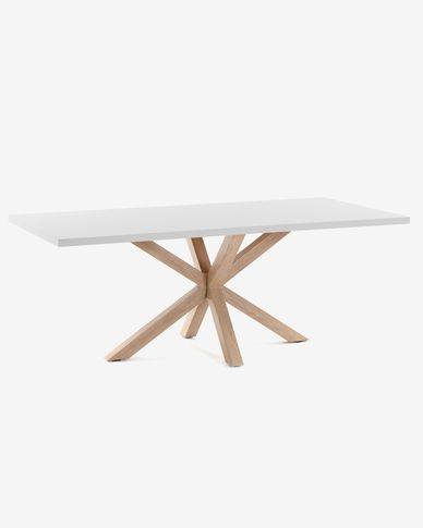 Argo table 160 cm white melamine wood effect legs