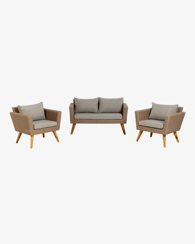 Sumie sofa and 2 armchairs set