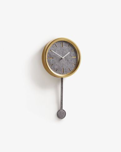 Nexus wall clock gold