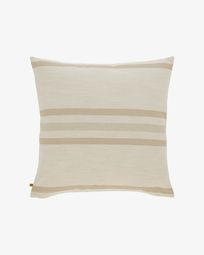Sydelle striped ivory cushion cover 60 x 60 cm