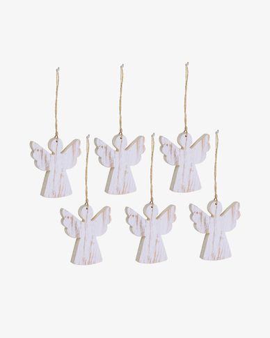 Keira set of 6 Christmas angel decorations