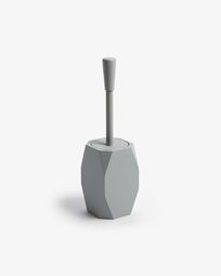 Toilet brush Lyndo of grey polyresin