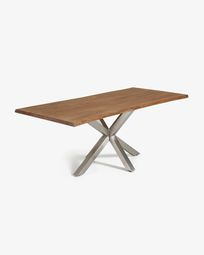 Argo table 220 cm antique oak matt stainless steel legs