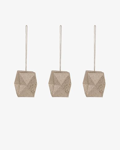 Caroll geometric bauble set