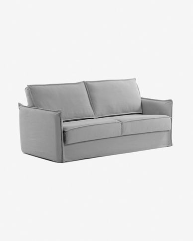 Samsa sofa bed 140 cm polyurethane grey