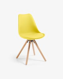 Chaise Ralf jaune et naturel
