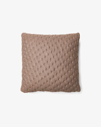 Kam cushion quilted 45 x 45 cm beige