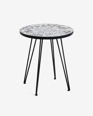 Grey Oswalda coffe table Ø 46 cm
