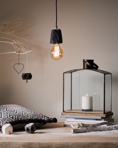 Lampe suspension Bray noir