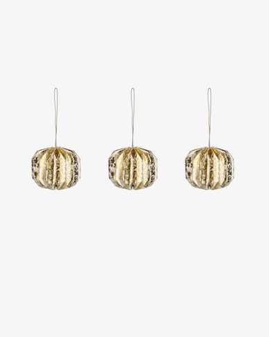 Wendy gold bauble set