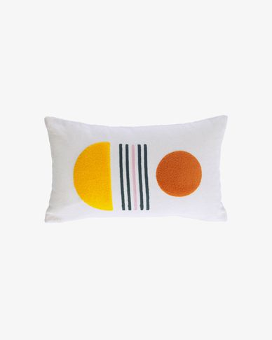 Natala yellow semicircle cushion cover 30 x 50 cm
